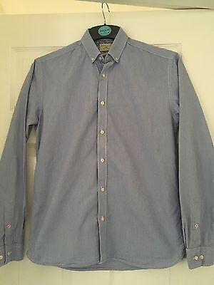 2019 Moda Da Uomo Prossimo Slim Fit Smart Camicia Taglia S-mostra Il Titolo Originale Avere Sia La Qualità Della Tenacia Che La Durezza