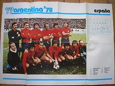 ARGENTINA 78 ALBUM COGED POSTER ESPANA SPAIN SPAGNA WORLD CUP 1978 FOOTBALL