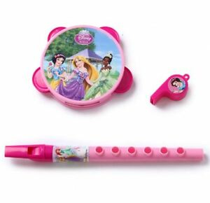 DIsney-Princess-Flute-Tambourine-Whistle-Musical-Instruments-Set-Toy