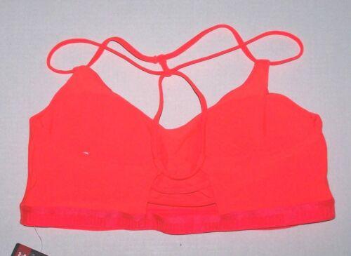 Nwt New Under Armour UA Low Triangle Back Sports Bralette Sport Bra Orange Women
