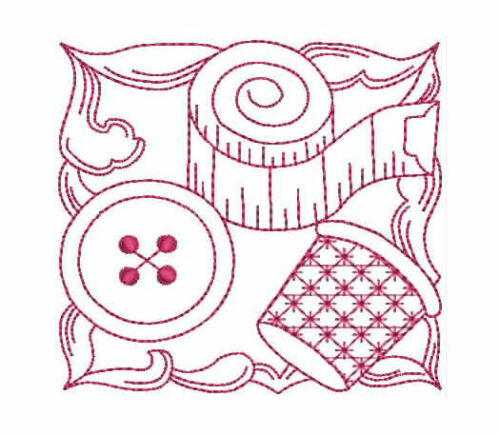 Redwork 1059 Sewing Blocks Machine Embroidery Designs