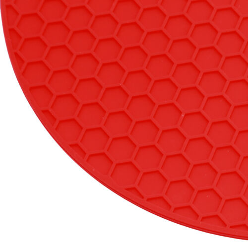 Table Honeycomb Cushion Placemat Silicone Round Heat Resistant Mats Pots Holder