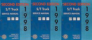 1998 repair shop manual gmc sonoma jimmy envoy oldsmobile bravada 98 rh ebay com 1996 GMC Jimmy 1997 GMC Jimmy