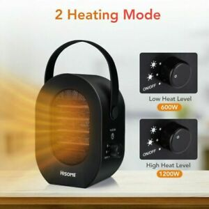 2-Setting-Portable-Electric-Space-Heater-Fan-Adjustable-Thermostat-1200W-PLUG