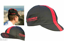 Cinelli Columbus Black/Red Cotton Cycling Cap Vintage Retro Fixie Made in Italy