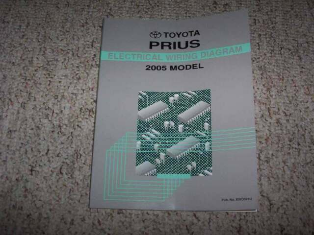 2005 Toyota Prius Hybrid Electrical Wiring Diagram Diagnosis Manual 1 5l 4cyl