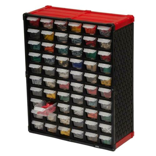 Garage Storage 60-Compartment Small Parts Organizer Easily Mounts To Wall New US