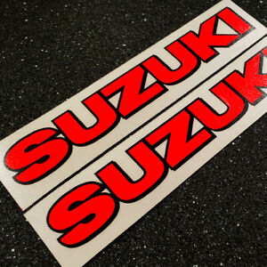 Suzuki 5in 12.7cm neon Red 450 gsxr decals 1000 sticker 1100 85 rmz 600