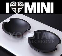 2X MATT BLACK ROYAL MINI Cooper Door Handle Cups Shells R50 R52 R53 R55 R56 R57