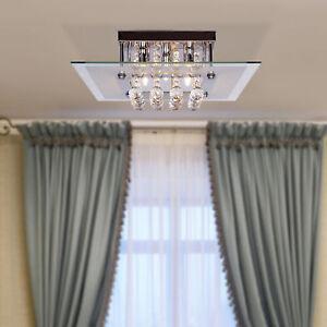Homcom-Moderne-Carre-Plafond-Lustre-Cristal-Lampe-de-pendentif