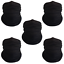 Pack-of-5-Black-Bandanas-Headband-Face-Mask-Shield-Scarf-Neck-Gaiter-Balaclava thumbnail 1