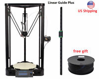 Anycubic 3d Printer Kit Kossel Plus Linear Guide Large Printed Size Us Ship