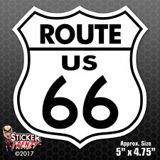 "ROUTE 66 STICKER ""WHITE"" Bumper Vinyl Decal sign car truck window USA #FS700"