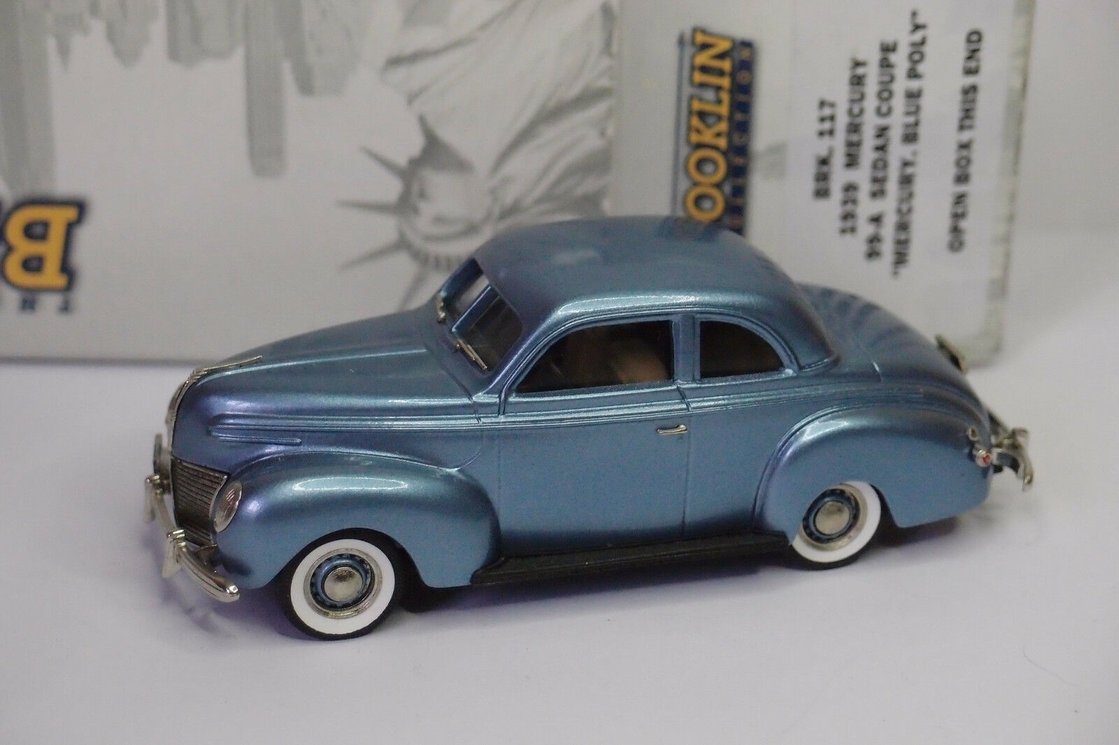BROOKLIN BRK 18 MERCURY 99-A SEDAN COUPE 1939 azul POLY 1 43