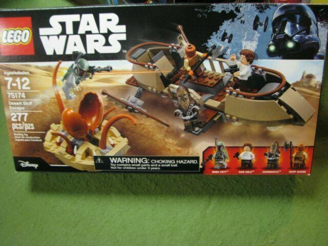 Lego 75174 Star Wars Desert Skiff Escape 75174 Han Solo Chewbacca Boba Fett NEW