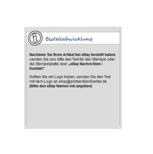 STEMPEL Selbstfärber Trodat Printy bis 8 Zeilen mit Wunschtext Logo