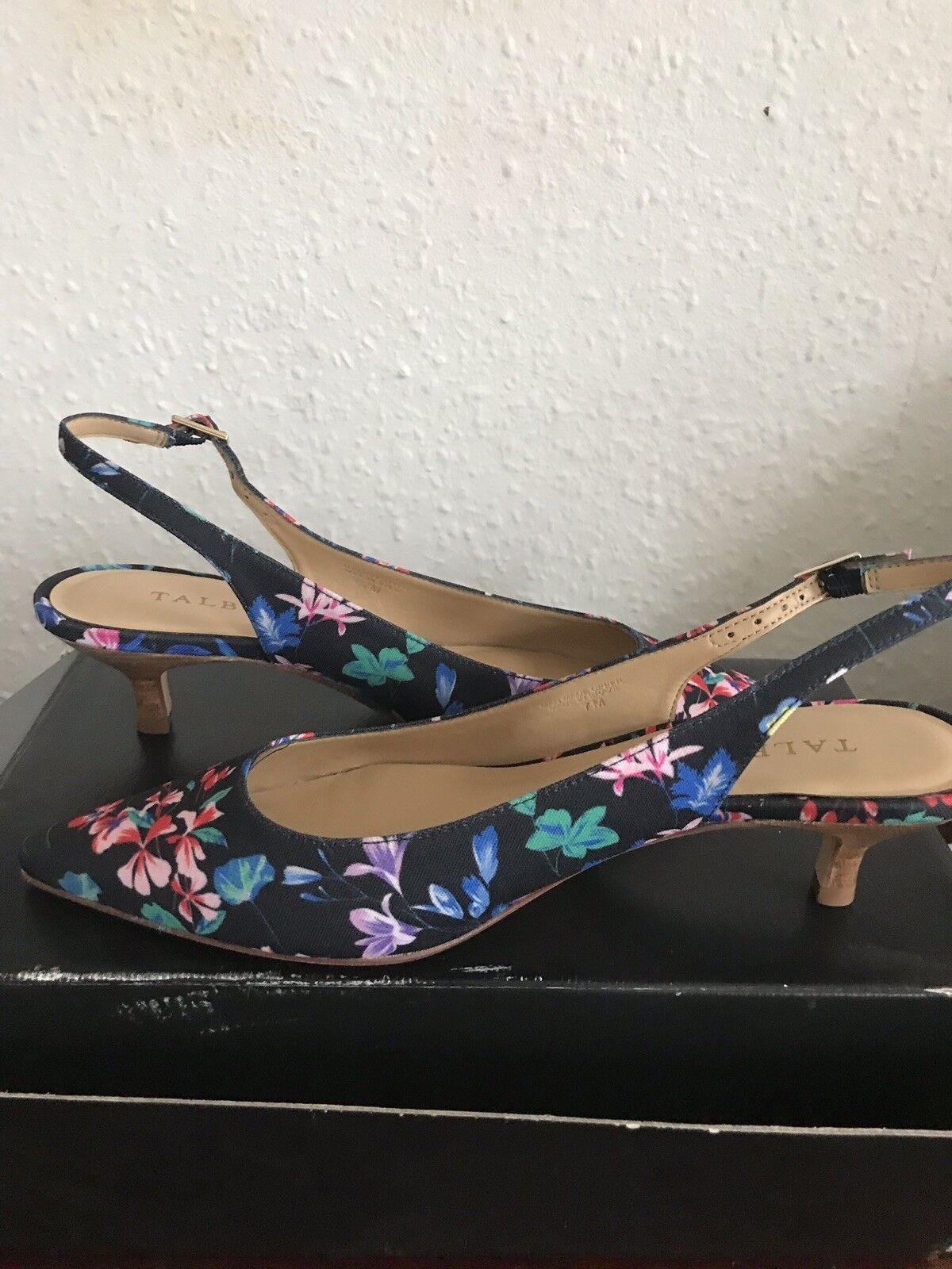Talbots Floral Kitten Kitten Kitten Heel shoes 0e7ee1
