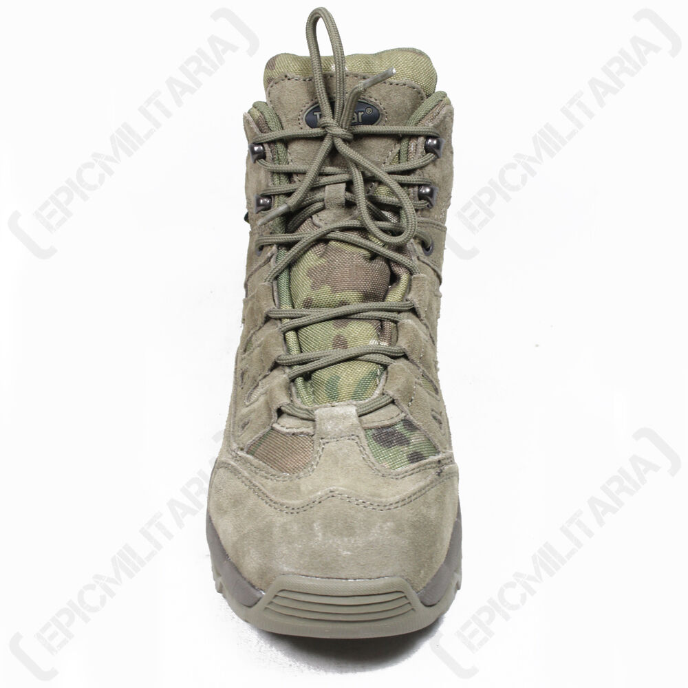 MULTICAM Military SQUAD Stivali - All Sizes Army Combat Mid Height Hiking Shoe New