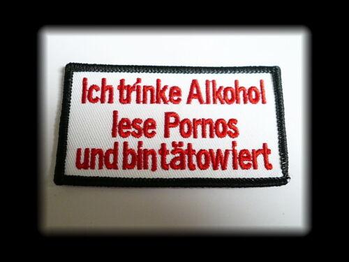 Iron on Tatuaggio aufbügler badge badge ricamate gekettelt patch porno Alcool