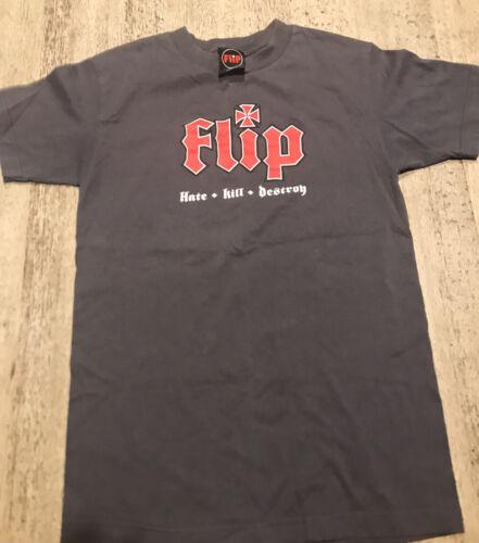 Vintage Flip Skateboards Hate Kill Destroy T Shirt