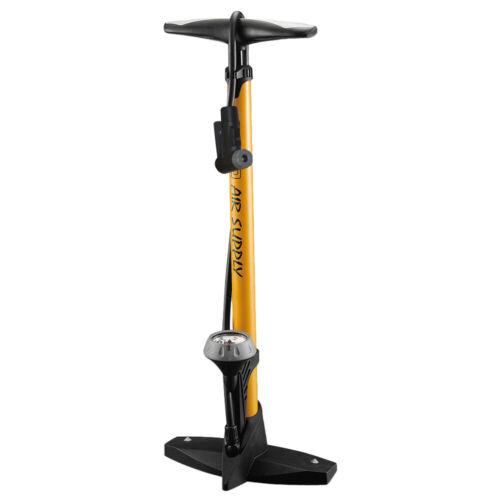 High Pressure Bike Floor Pump 160PSI Bicycle Floor Pump with Pressure Gauge E0D0