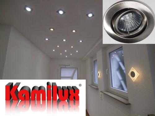 230V Bad Einbaustrahler Bajo /& GU10 7W LED Leuchtmittel 7 Watt Einbautiefe 6cm