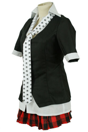 Danganronpa Enoshima Junko Short Sleeve Skirt Uniform Dress Cosplay Costumes