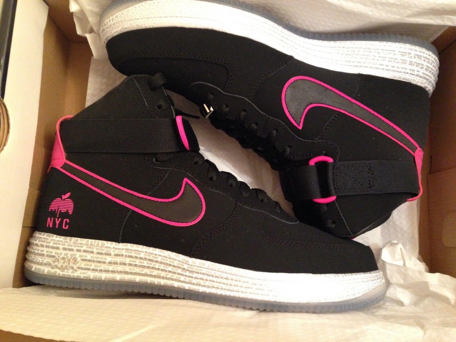 Nike Hi Lunar Force 1 Hyp Hi Nike Qs NYC talla (US 9) Negro/Rosa Aluminio NUEVO 816a6e