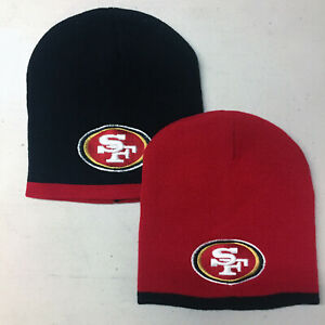 San-Francisco-49ers-Short-Beanie-Skull-Cap-Hat-Embroidered-SF