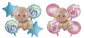 5pcs garçon/fille Foil Balloon for Baby Shower Nouveau-Né Baptême Anniversaire Fête UK