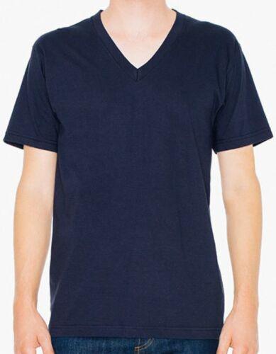 C XXL AM2456 American Apparel Unisex Fine Jersey V-Neck T-Shirt XS
