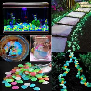 100X-Garden-Pebbles-Luminous-Stones-Glow-in-the-Dark-Walkway-Path-Lawn-Yard-Farm