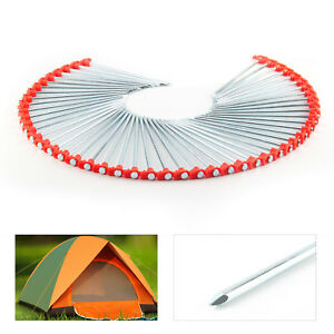 Image is loading 50-X-Metal-Tent-Pegs-Hard-Ground-Standing-  sc 1 st  eBay & 50 X Metal Tent Pegs Hard Ground Standing Camping Awning Pegs ...