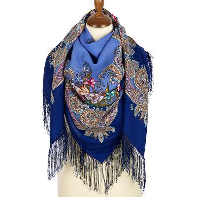 Scarf 100/% Wool 1685-14 Pavlovo Posad Shawl Original Authentic Russian
