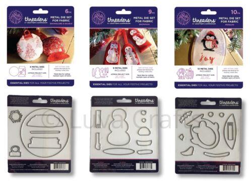 Crafters Companion Tela Corte muere Set-Navidad Festivo Designs