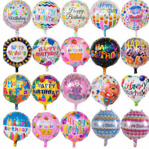 Image Is Loading 18 034 Happy Birthday Aluminum Foil Balloons Kids