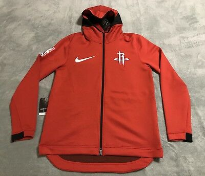 2562ace152 Nike NBA Houston Rockets Therma Flex Showtime Hoodie Mens LARGE L Red  899842 657 | eBay