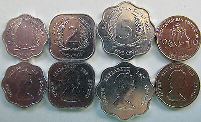 Eastern Caribbean set of 4 coins 1989-2000 (1+2+5+10 cents) UNC