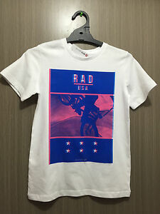 BNWT-Boys-Sz-14-Target-Brand-Rad-USA-Print-Short-Sleeve-White-Tee-Shirt-Top