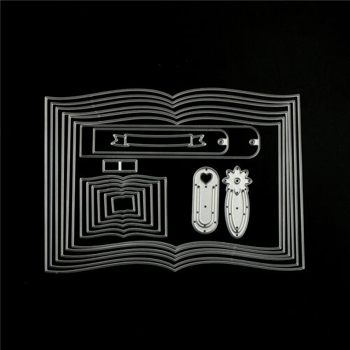 Vivid Books Frame Customized  Cutting Dies DIY Scrapbooking Album Craft Dies YGZ