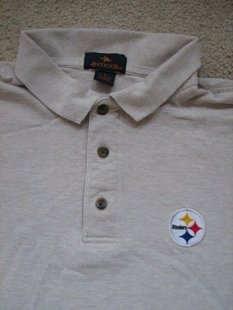 a16fafd11 Pittsburgh Steelers Football Antigua Polo Golf Shirt Large NFL AFC Steel  Curtain