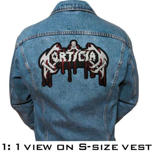 "Mortician band big back patch 28cm x 19cm 11,02/""x7,48/"""