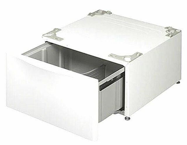 Lg - Laundry Pedestal With Storage Drawer - White