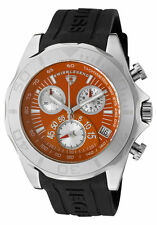 SWISS LEGEND 18010-06 TUNGSTEN CHRONOGRAPH ORANGE DIAL BLACK SILICONE STRAP