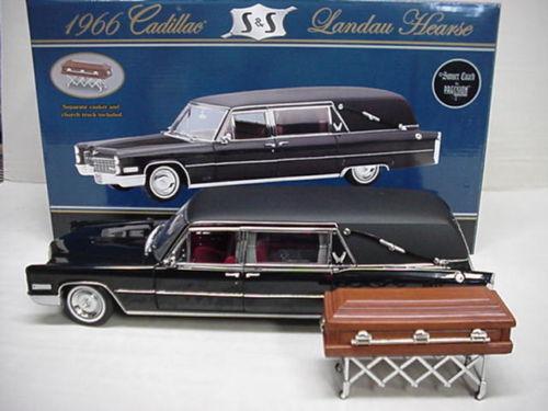 1 18 Precisionmin. 1966 Cadillac Landaulet Coche Fúnebre Landau Coche Fúnebre