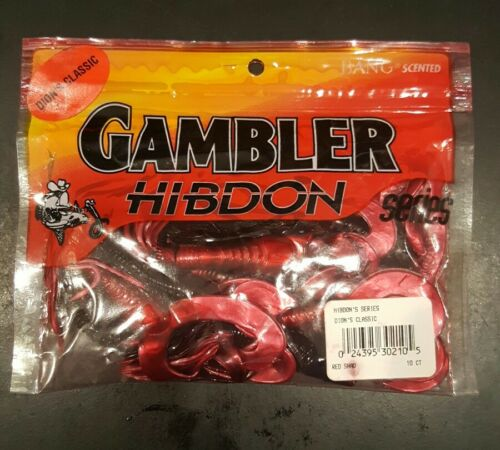 10pk Red Shad Gambler Hibdon Series Dion/'s Classic