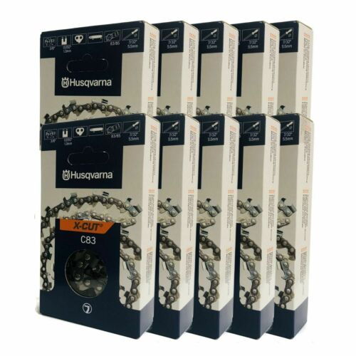 "Husqvarna 585550084 24/"" C83 X-Cut 24/"" Chain 3//8/"" .050/"" 84 DL 10 Pack"