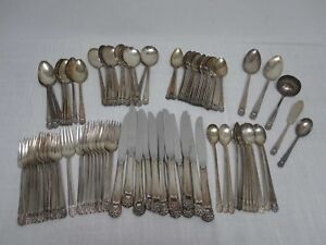 95-PCS-1847-ROGERS-BROS-ETERNALLY-YOURS-SILVERPLATE-FLATWARE