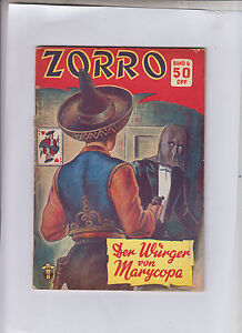 Zorro-Original-1950-4-Hefte-Abenteuer-Nummer-6-13-16-alle-2-18-2-3