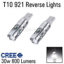 2 x 30W 6000k White 921 T10 T15 Back Up Reverse LED Lights Bulbs Projector